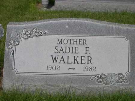 WALKER, SADIE F. - Dawes County, Nebraska | SADIE F. WALKER - Nebraska Gravestone Photos
