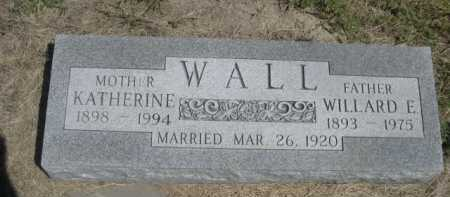 WALL, KATHERINE - Dawes County, Nebraska | KATHERINE WALL - Nebraska Gravestone Photos