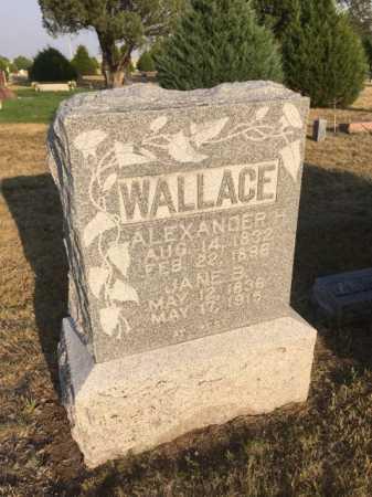 WALLACE, JANE B. - Dawes County, Nebraska   JANE B. WALLACE - Nebraska Gravestone Photos