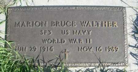 WALTHER, MARION BRUCE - Dawes County, Nebraska | MARION BRUCE WALTHER - Nebraska Gravestone Photos