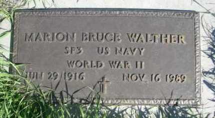WALTHER, MARION BRUCE - Dawes County, Nebraska   MARION BRUCE WALTHER - Nebraska Gravestone Photos