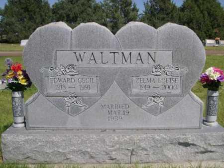WALTMAN, EDWARD CECIL - Dawes County, Nebraska | EDWARD CECIL WALTMAN - Nebraska Gravestone Photos