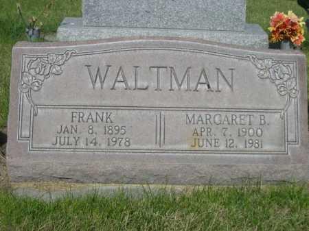 WALTMAN, FANK - Dawes County, Nebraska   FANK WALTMAN - Nebraska Gravestone Photos