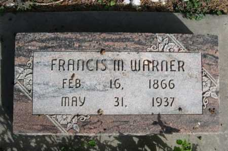 WARNER, FRANCIS M. - Dawes County, Nebraska | FRANCIS M. WARNER - Nebraska Gravestone Photos