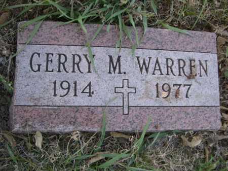 WARREN, GERRY M. - Dawes County, Nebraska | GERRY M. WARREN - Nebraska Gravestone Photos