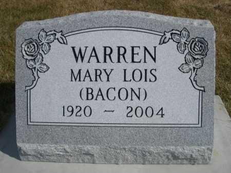 BACON WARREN, MARY LOIS - Dawes County, Nebraska | MARY LOIS BACON WARREN - Nebraska Gravestone Photos