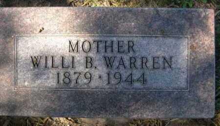 WARREN, WILLI B. - Dawes County, Nebraska | WILLI B. WARREN - Nebraska Gravestone Photos