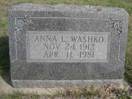 WASHKO, ANNA L. - Dawes County, Nebraska | ANNA L. WASHKO - Nebraska Gravestone Photos