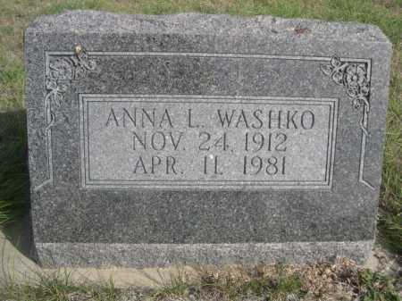 WASHKO, ANNA L. - Dawes County, Nebraska | ANNA L. WASHKO - Nebraska Gravestone Photos