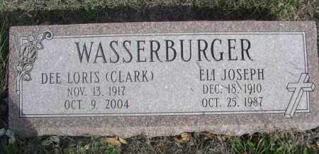 WASSERBURGER, ELI JOSEPH - Dawes County, Nebraska | ELI JOSEPH WASSERBURGER - Nebraska Gravestone Photos