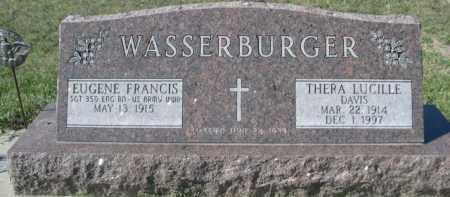 DAVIS WASSERBURGER, THERA LUCILLE - Dawes County, Nebraska | THERA LUCILLE DAVIS WASSERBURGER - Nebraska Gravestone Photos
