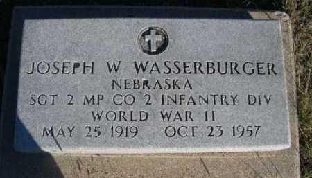 WASSERBURGER, JOSEPH W. - Dawes County, Nebraska | JOSEPH W. WASSERBURGER - Nebraska Gravestone Photos