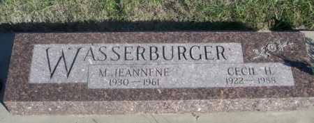 WASSERBURGER, M. JEANNENE - Dawes County, Nebraska | M. JEANNENE WASSERBURGER - Nebraska Gravestone Photos