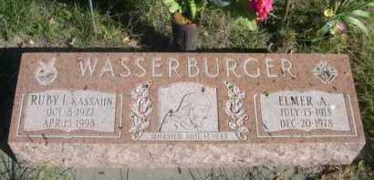 WASSERBURGER, ELMER A. - Dawes County, Nebraska | ELMER A. WASSERBURGER - Nebraska Gravestone Photos