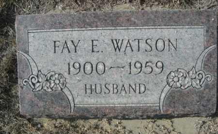 WATSON, FAY E. - Dawes County, Nebraska   FAY E. WATSON - Nebraska Gravestone Photos