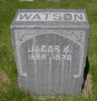 WATSON, JACOB K. - Dawes County, Nebraska | JACOB K. WATSON - Nebraska Gravestone Photos