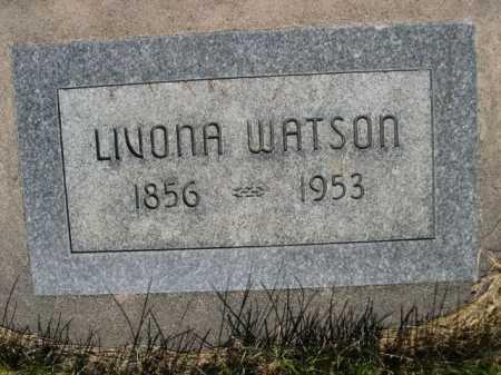 WATSON, LIVONA - Dawes County, Nebraska   LIVONA WATSON - Nebraska Gravestone Photos