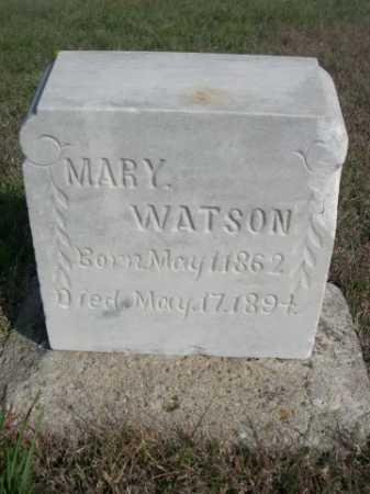 WATSON, MARY - Dawes County, Nebraska | MARY WATSON - Nebraska Gravestone Photos
