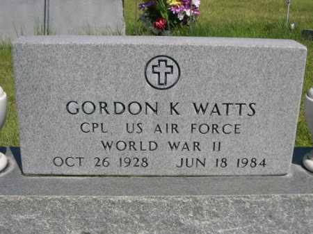 WATTS, GORDON K. - Dawes County, Nebraska | GORDON K. WATTS - Nebraska Gravestone Photos