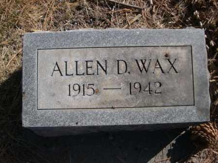 WAX, ALLEN D. - Dawes County, Nebraska | ALLEN D. WAX - Nebraska Gravestone Photos