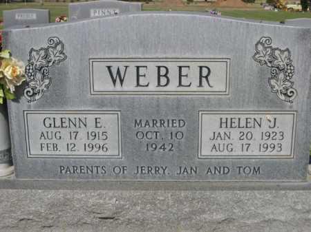 WEBER, GLENN E. - Dawes County, Nebraska | GLENN E. WEBER - Nebraska Gravestone Photos