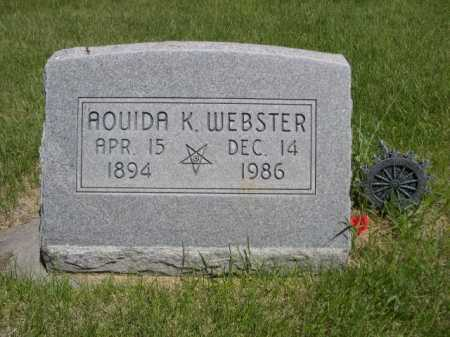 WEBSTER, AOUIDA K. - Dawes County, Nebraska | AOUIDA K. WEBSTER - Nebraska Gravestone Photos