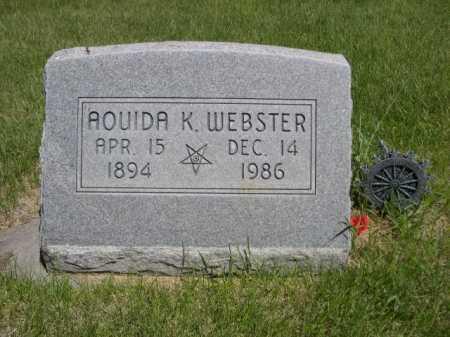WEBSTER, AOUIDA K. - Dawes County, Nebraska | AOUIDA K. WEBSTER - Nebraska Gravestone Photos