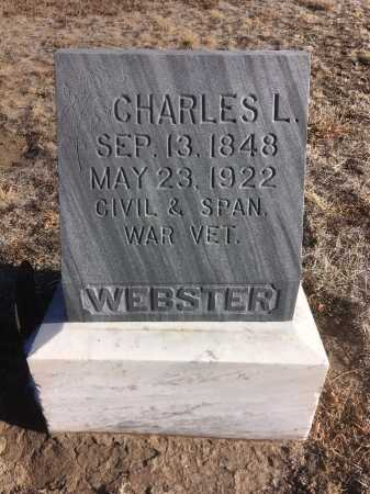 WEBSTER, CHADRLES L. - Dawes County, Nebraska | CHADRLES L. WEBSTER - Nebraska Gravestone Photos
