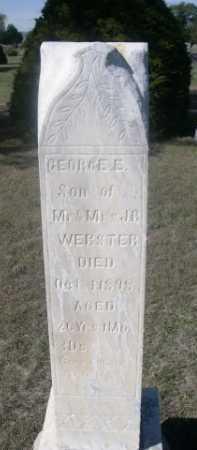 WEBSTER, GEORGE E. - Dawes County, Nebraska | GEORGE E. WEBSTER - Nebraska Gravestone Photos