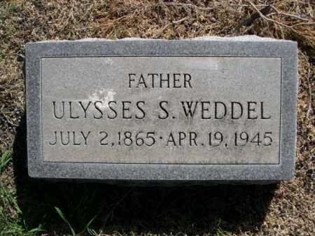 WEDDEL, ULYSSES - Dawes County, Nebraska   ULYSSES WEDDEL - Nebraska Gravestone Photos