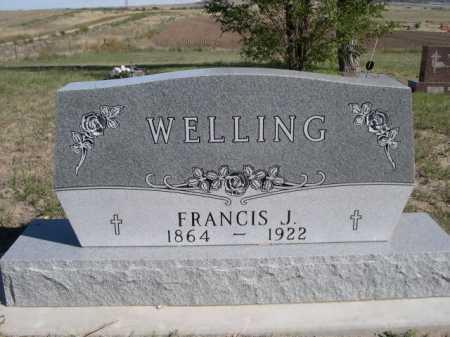 WELLING, FRANCIS J. - Dawes County, Nebraska   FRANCIS J. WELLING - Nebraska Gravestone Photos