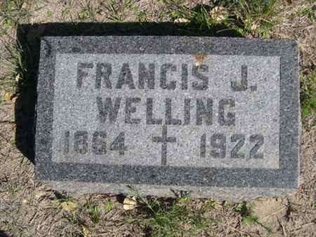 WELLING, FRANCIS J. - Dawes County, Nebraska | FRANCIS J. WELLING - Nebraska Gravestone Photos