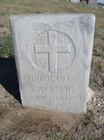 WELLING, NICKOLAUS - Dawes County, Nebraska | NICKOLAUS WELLING - Nebraska Gravestone Photos