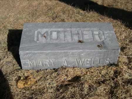 WELLS, MARY A - Dawes County, Nebraska | MARY A WELLS - Nebraska Gravestone Photos
