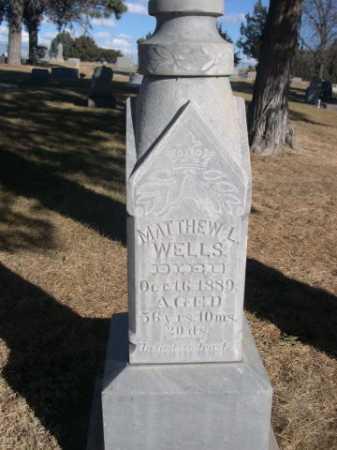 WELLS, MATHEW L. - Dawes County, Nebraska   MATHEW L. WELLS - Nebraska Gravestone Photos