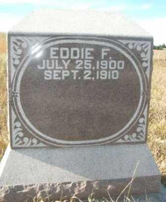 WENDT, EDDIE F. - Dawes County, Nebraska | EDDIE F. WENDT - Nebraska Gravestone Photos