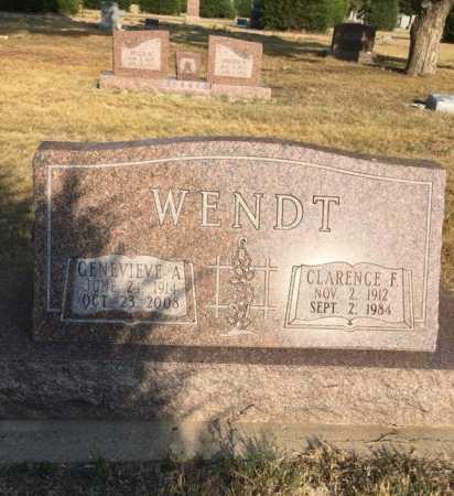 WENDT, CLARENCE F. - Dawes County, Nebraska | CLARENCE F. WENDT - Nebraska Gravestone Photos