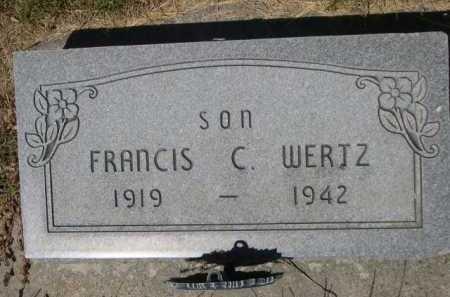WERTZ, FRANCIS C. - Dawes County, Nebraska | FRANCIS C. WERTZ - Nebraska Gravestone Photos