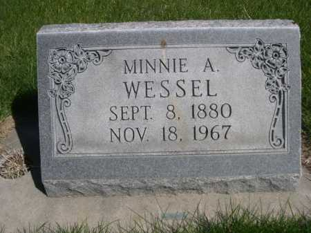 WESSEL, MINNIE A. - Dawes County, Nebraska | MINNIE A. WESSEL - Nebraska Gravestone Photos