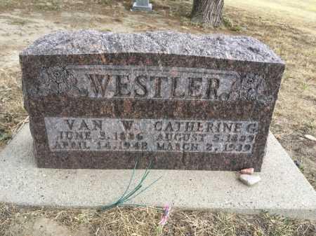 WESTLER, VAN W. - Dawes County, Nebraska | VAN W. WESTLER - Nebraska Gravestone Photos