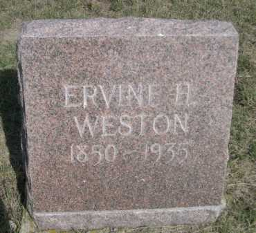 WESTON, ERVINE A. - Dawes County, Nebraska | ERVINE A. WESTON - Nebraska Gravestone Photos
