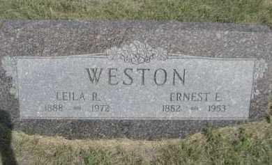 WESTON, ERNEST E. - Dawes County, Nebraska | ERNEST E. WESTON - Nebraska Gravestone Photos