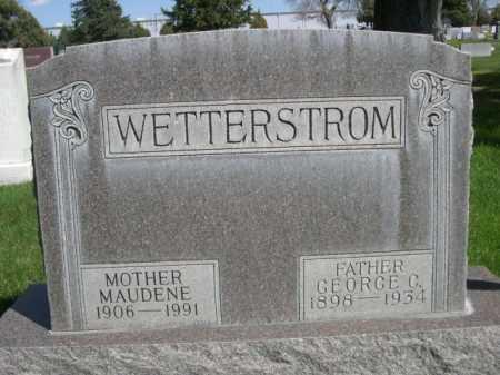 WETTERSTROM, MAUDENE - Dawes County, Nebraska | MAUDENE WETTERSTROM - Nebraska Gravestone Photos