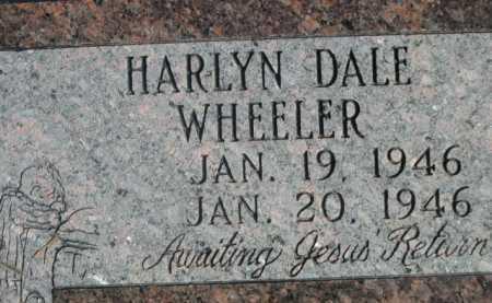 WHEELER, HARLYN DALE - Dawes County, Nebraska   HARLYN DALE WHEELER - Nebraska Gravestone Photos