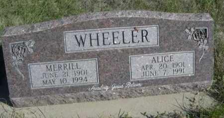 WHEELER, MERRILL - Dawes County, Nebraska | MERRILL WHEELER - Nebraska Gravestone Photos