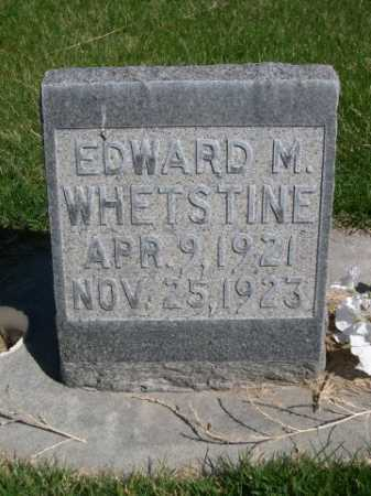 WHETSTINE, EDWARD M. - Dawes County, Nebraska | EDWARD M. WHETSTINE - Nebraska Gravestone Photos