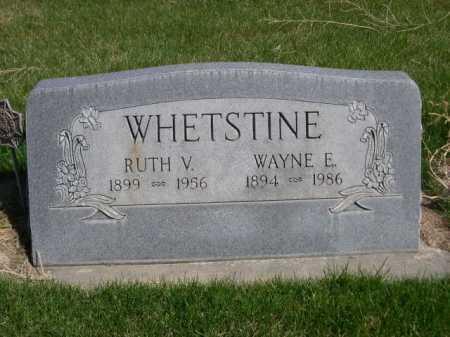 WHETSTINE, RUTH V. - Dawes County, Nebraska | RUTH V. WHETSTINE - Nebraska Gravestone Photos