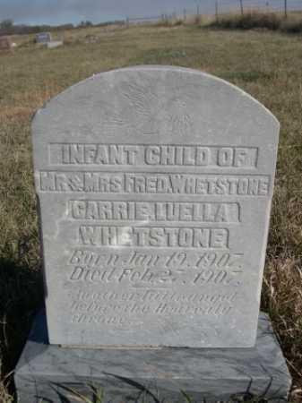 WHETSTONE, CARRIE LUELLA - Dawes County, Nebraska | CARRIE LUELLA WHETSTONE - Nebraska Gravestone Photos