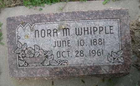 WHIPPLE, NORA M. - Dawes County, Nebraska | NORA M. WHIPPLE - Nebraska Gravestone Photos