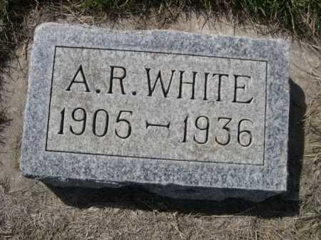 WHITE, A. R. - Dawes County, Nebraska | A. R. WHITE - Nebraska Gravestone Photos